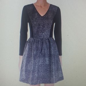 Kensie Black White Lace Dress New